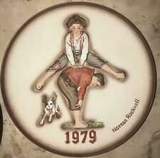"Norman Rockwell Dimensional First Limited Edition 1979 Annual Plate ""Leap Frog"""