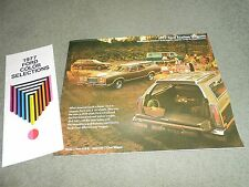 1977 FORD  STATION WAGONS BROCHURE + '77 PAINT COLOR CHIPS PINTO, LTD II, LTD