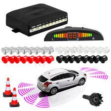 Car Parking Sensor Kit Led Display 8 Rear Front View Reverse Backup Radar System