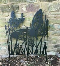 metal black butterfly garden screen