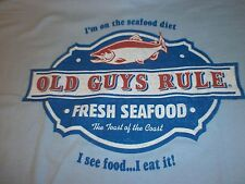 "Old Guys Rule Fresh Seafood ""Seafood Diet.I See Food I Eat It S/S Size M"