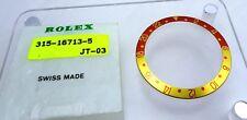 New 18k Gold Rolex GMT Master 2 Bronze 16713-5 Watch Bezel Insert Part