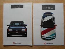 VAUXHALL ASTRA Range 1993 UK Mkt prestige sales brochure + colour chart- GSi 16v