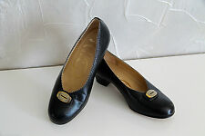 pretty leather shoes black small heels ANTINEA size 36 1/2 MINT