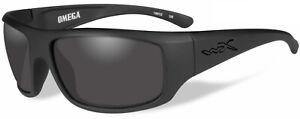 Wiley X Omega Men's Matte Black Sunglasses w/ Smoke Grey Lens - ACOME01