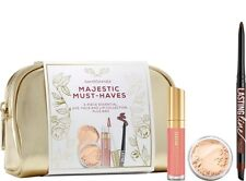 bare Minerals Escentuals Majestic Must-Haves 3pc Eye Face & Lip Collection + Bag