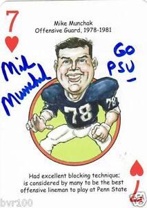 Mike Munchak Penn State Sports Heroes Poker Deck Autographed Card COA Tri-Star