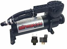 Air Ride Suspension Air Compressor 580 Black 200psi Off Pressure Switch & Relay