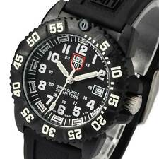 NEW LUMINOX 7051 Mens Watch Black tone White Silicone Rubber Night Vision 7051