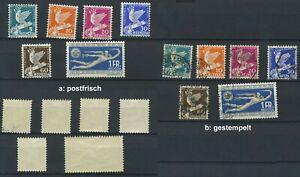Schweiz 1932, 250 - 255 **, gestempelt; bitte auswaehlen! #g687