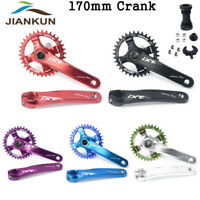 104BCD Integrated 170mm Crankset MTB Bike Crank Set + Chainring + Bottom Bracket