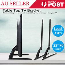"Universal Table Top TV Stand Leg Mount LED LCD Flat TV Screen 32~70"" Bracket AU"