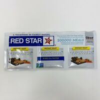 Instant Yeast Quick Rise Red Star 1 Strip Best By January 2022