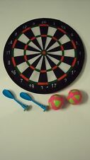 INDOOR SAFETY   DART BOARD 20CM WITH DARTS  KIDS GAME TOY