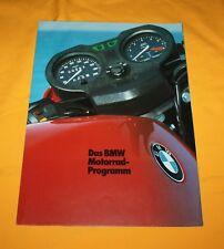 BMW Motorrad 1982 Prospekt Brochure Depliant Catalog Prospetto Folder Broschyr