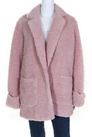LAVEER Womens Jane Shearling Coat Pink Size Large