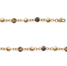 Bracelet female BEADS Cloisonne & Balls new gold plated