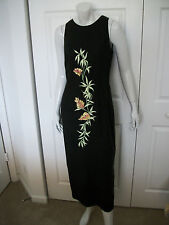 WMNS 6 ELEGANT BLACK SPAG STRAP DRESS W/ EMBROIDERY & BEADS by DONNA MORGAN