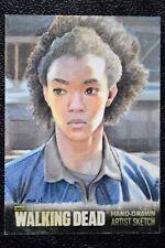 Walking Dead Season 3 Sasha Sketch Art by Sam Hogg Trading Card Cryptozoic