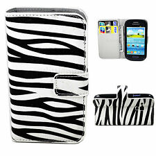 Magnetic Leather Cover Case Stand Pouch For Samsung Galaxy S3 III Mini i8190