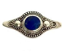 Vintage Heavy Sterling Silver & Blue Lapis Lazuli Stone Brooch GIFT BOXED