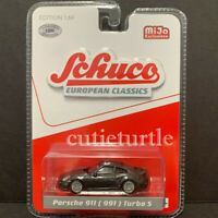Schuco Porsche 911 991 Turbo S 1:64 Limited 1200 Pieces Metallic Grey 9000