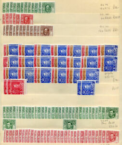 Bechuanaland largely George 6th stock lot hinged to n.h. mint (2019/04/01#07)
