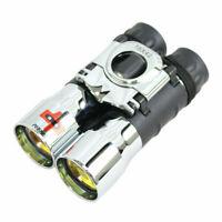 Perrini New 16X42 Zoom Binoculars High Powered Compact Ruby Coated Lens Chrome