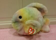Ty Beanie Buddy CORAL the Pastel Ty-Dye  Fish 2000, Retired & New