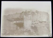 Glass Magic lantern slide DESTROYED FORT NEAR PERVYSE CIRCA WW1 BELGIUM
