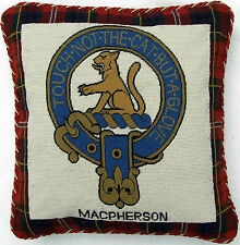 Cushion  Cover Macpherson Scottish Clan Needlepoint Tapestry  Scotland Tartan