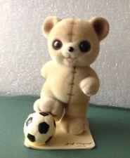 Vintage George Good Josef Originals Fuzzy Wuzzy Bear Kicking A Soccer Ball