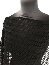 Jet Black poids moyen géométrique Non Extensible Dentelle de coton couture tissu
