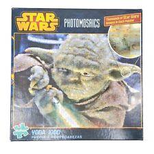 Star Wars 1000 Pc Photomosaics Jigsaw Puzzle Yoda Light Saber Buffalo Disney