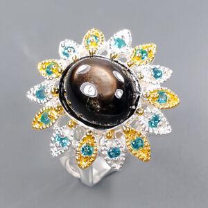 Handmade SET Black Star Sapphire Ring Silver 925 Sterling  Size 7.5 /R172885