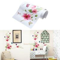 Waterproof Flowers Butterfly Wall Stickers Glass Stickers Tile Wall Decorted