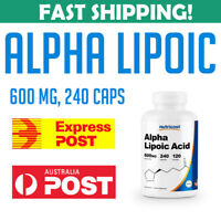 Nutricost Alpha Lipoic Acid 600mg 240 Caps PREMIUM Quality VALUE PACK AU STOCK