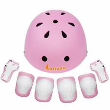 Lanovagear Toddler Bike Helmet Knee Elbow Pads Wrist Guards For Kids To Youth(3-