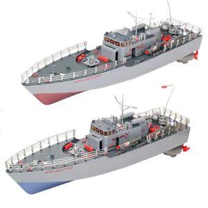 2.4G Remote Control Torpedo Boat RC Boat Twin Motor Warship Battleship Boat