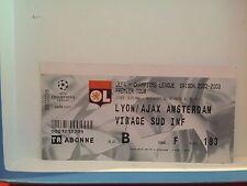 Football Ticket - UEFA - Champions League - Lyon- Ajax Amsterdam 2002