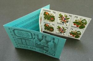 [SJ] Sweden Berries 1977 Fruits Food Plant Flora Flower (booklet) MNH