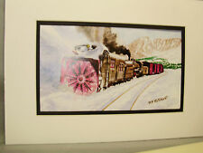 Rio Grande Rotary Snow Plow Rocky Mountains  Artist Railroad Archives bt