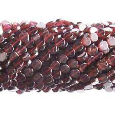 Garnet Plain Coin Beads 5-6mm Red 52+ Pcs Handcut Gemstones DIY Jewellery Making