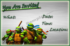 Ninja Turtle Party Invitations with matching envelopes, birthday, 24pack