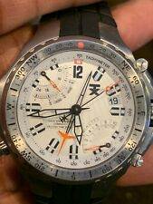 Timex Titanium Fly-Back Second Time Zone Compass Sapphire Crystal Watch T3B881
