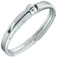 Fashion Alloy Silver-Tone Mens Handcuff Bracelet
