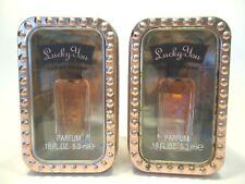 Fragrance Lucky Brand Lucky You Parfum .18 oz x 2 collector tins MAKE OFFER #D8