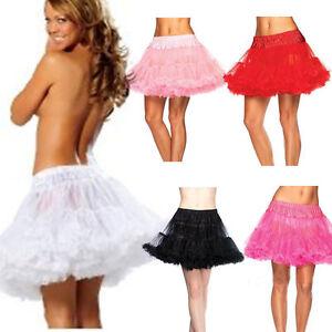 2 Layer Short Mini Tulle Skirt UnderSkirt Slips Crinoline Petticoat Dress 2015