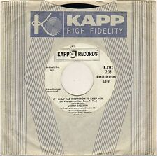 "JERRY JACKSON ""IF I ONLY HAD KNOWN HOW TO KEEP HER"" SOUL 60'S SP KAPP 438 PROMO"