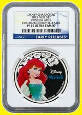 2015 Niue 1 Oz Colorized Disney Princess ARIEL NGC PF70 UC ER POP 229 ONLY